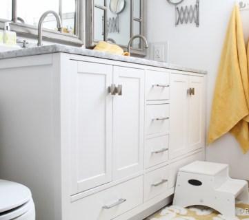 Updated Bathroom; Single Sink Vanity to Double Sink