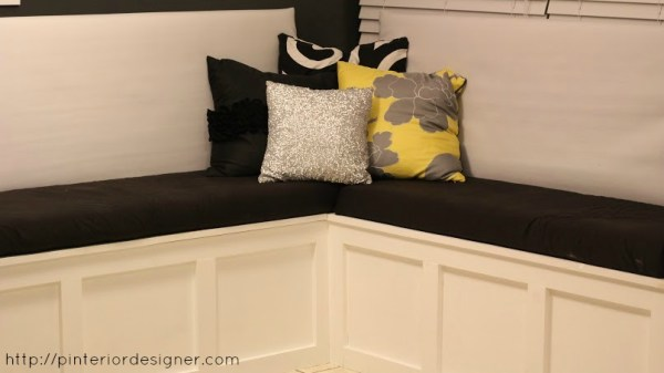 corner banquette bench, Pinterior Designer featured on Remodelaholic