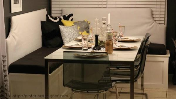 custom corner banquette bench, Pinterior Designer featured on Remodelaholic