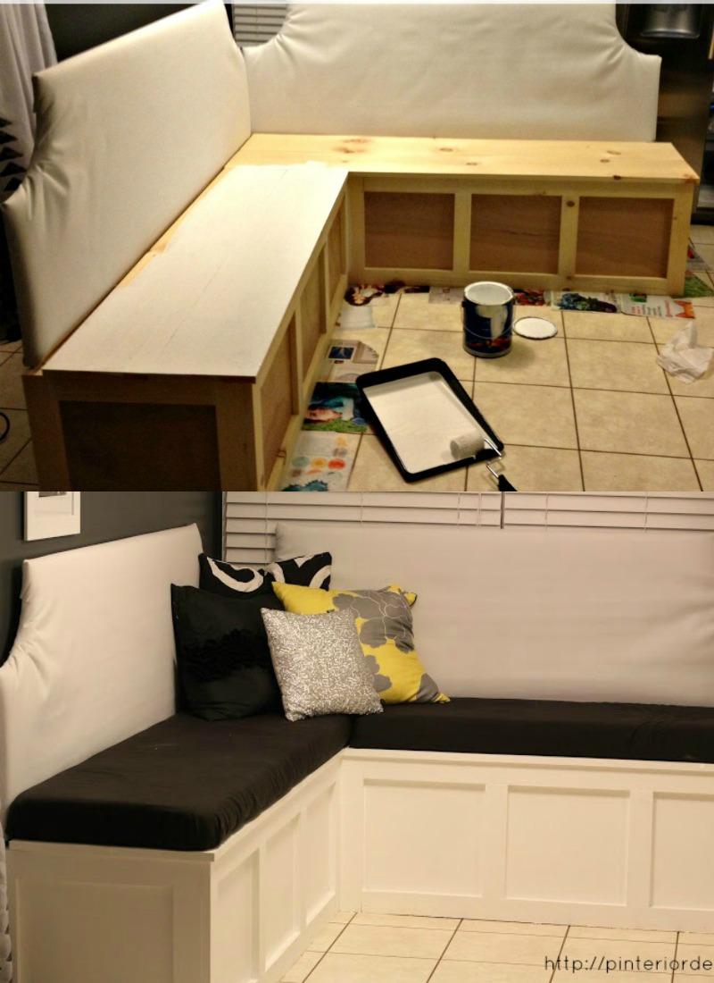 Strange Remodelaholic Build A Custom Corner Banquette Bench Lamtechconsult Wood Chair Design Ideas Lamtechconsultcom