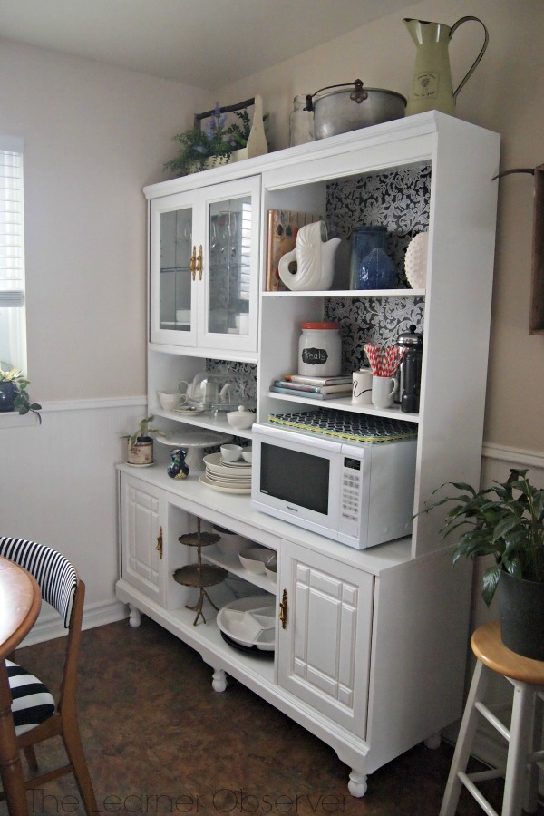 Favorite Remodelaholic | Create a Kitchen Hutch From an 80's Wall Unit TF95