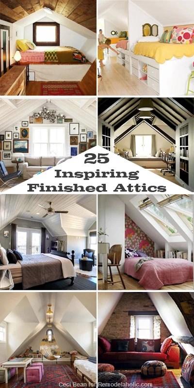 25 Inspiring Finished Attics via Remodelaholic.com #remodel #attic