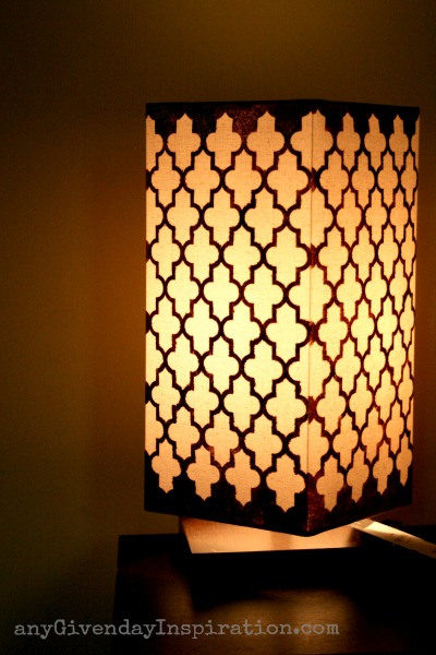 moroccan quatrefoil stenciled lamp, Any Given Day Inspiration