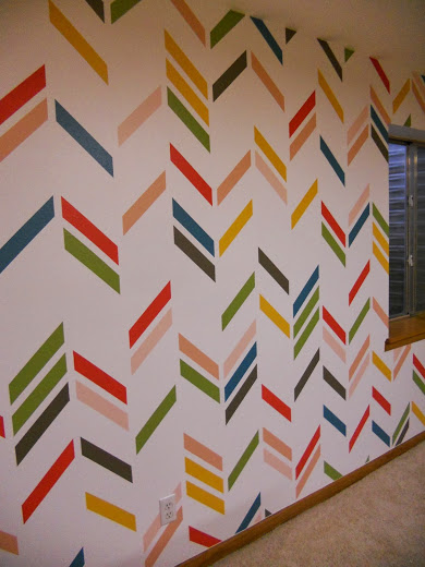 painted herringbone feature wall, Just Another Hang Up