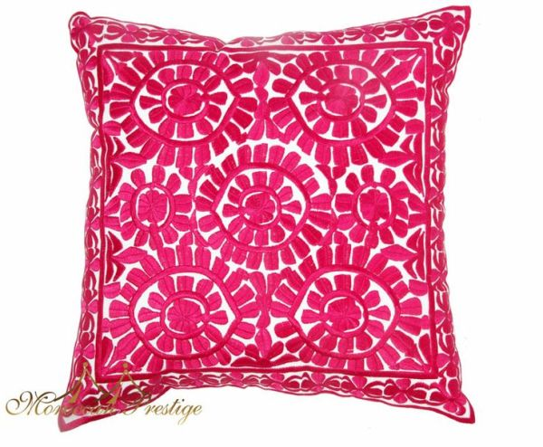 floral fuchsia pillow