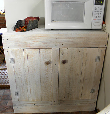 rustic pallet cabinet, featured on Remodelaholic