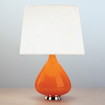orange teardrop lamp