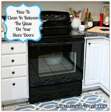 Clean in between the glass on your oven doors ... tons of great cleaning tips and tricks at mom4real.com