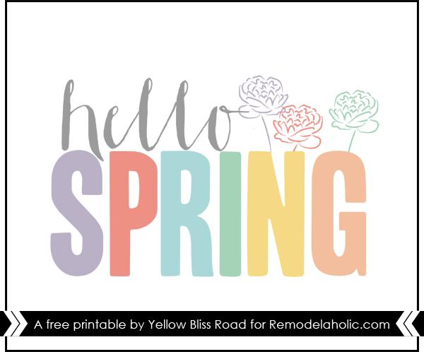 Hello Spring Free Printable