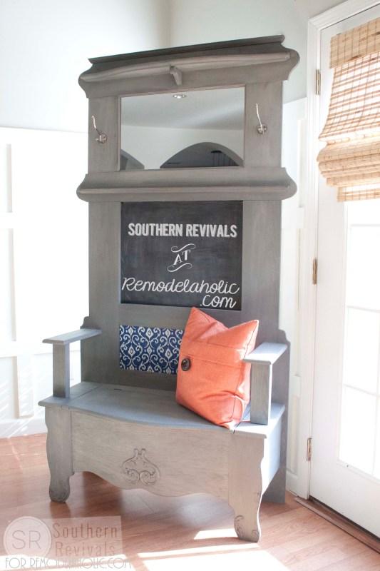Southern Revivals | Vintage Halltree Makeover on Remodelaholic