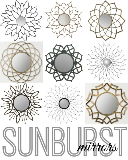 Sunburst Mirrors via Remodelaholic.com