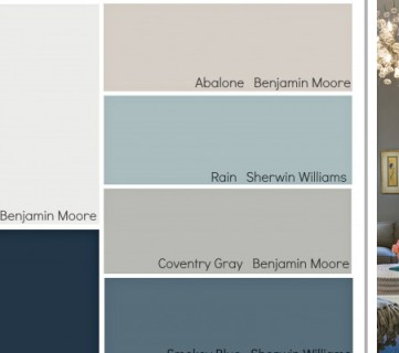 Transitional Paint Color Palette