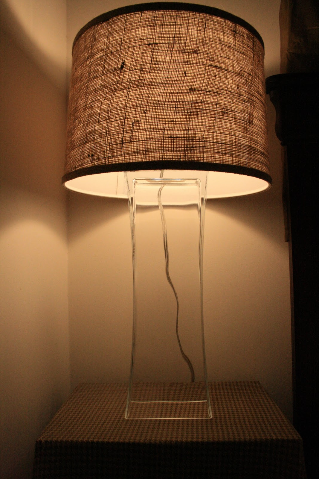 Remodelaholic upcycled diy chandelier lamp use a vase to make a lamp featured on remodelaholic reviewsmspy