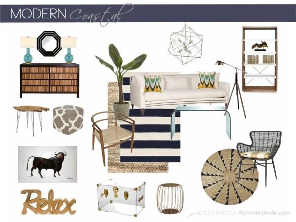 Modern Coastal Inspiration from Remodelaholic.com