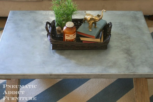 Zinc Top Coffee Table, Pneumatic Addict