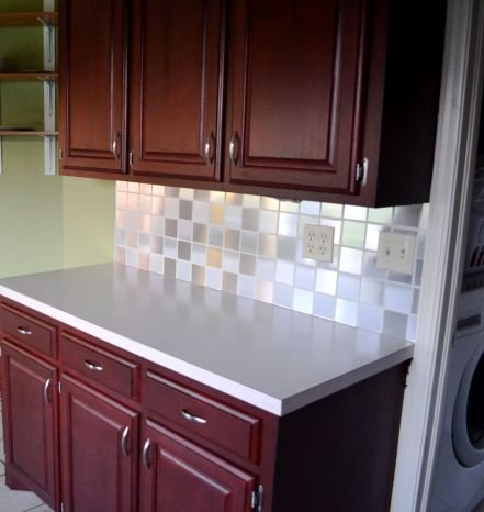 contact paper backsplash