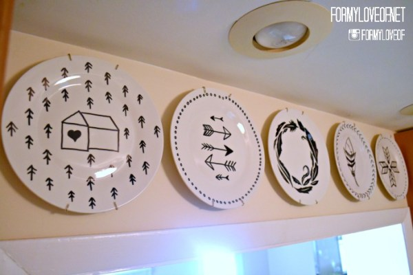 Easy DIY Wall Decor Ideas Sharpie Doodle Decorative Plates