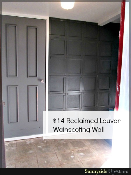 Easy DIY Wall Decor Ideas Wood Louver Wainscoting