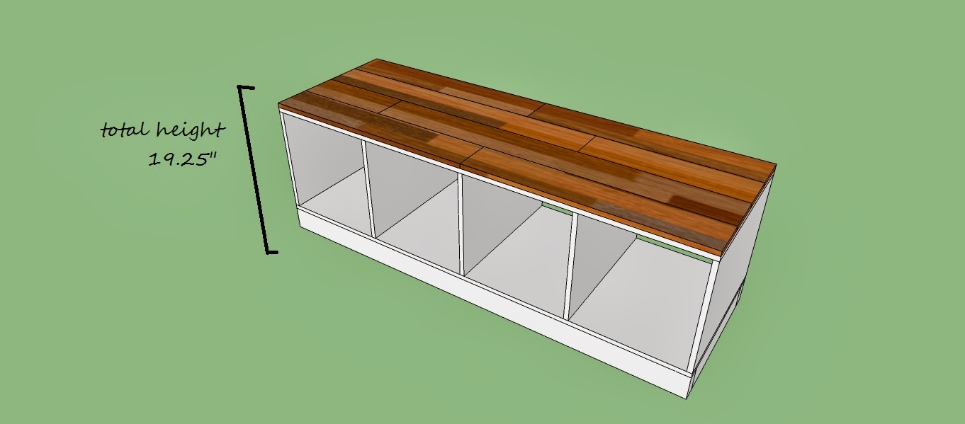 Remodelaholic diy entryway mudroom with cubbies for for Mudroom bench depth