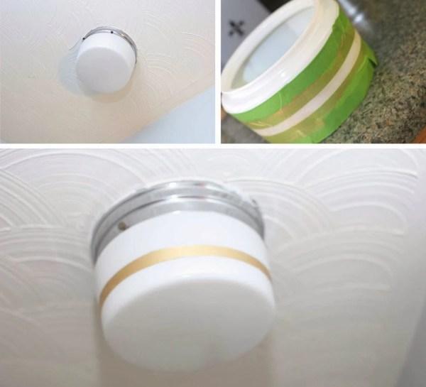 gold striped light makeover, Craftivity Designs on Remodelaholic