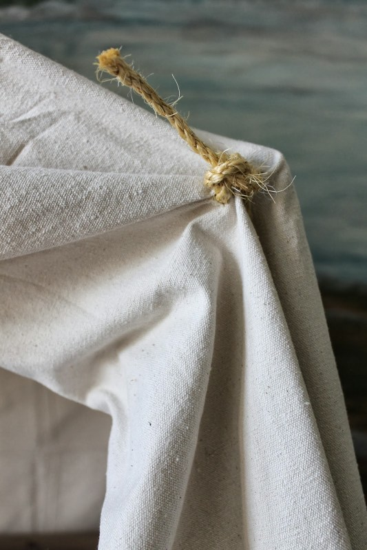 indoor camping tent bed canopy - tied rope corners, The Ragged Wren on Remodelaholic