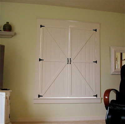 interior Barn Door Shutters Tutorial