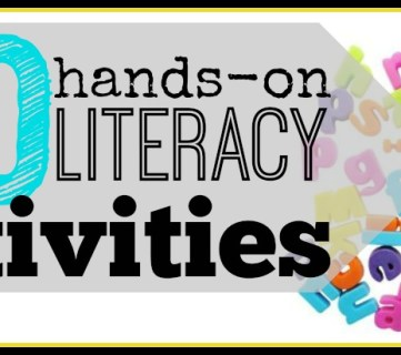 10 Hands-on literacy activities for 3-6 year olds ~ Tipsaholic.com #literacy #games # kids