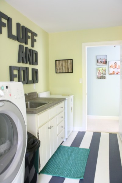 Laundry room paint color, painted floor