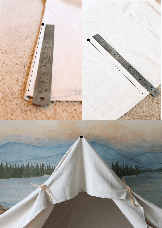 measuring canvas for camping tent bed, The Ragged Wren on Remodelaholic
