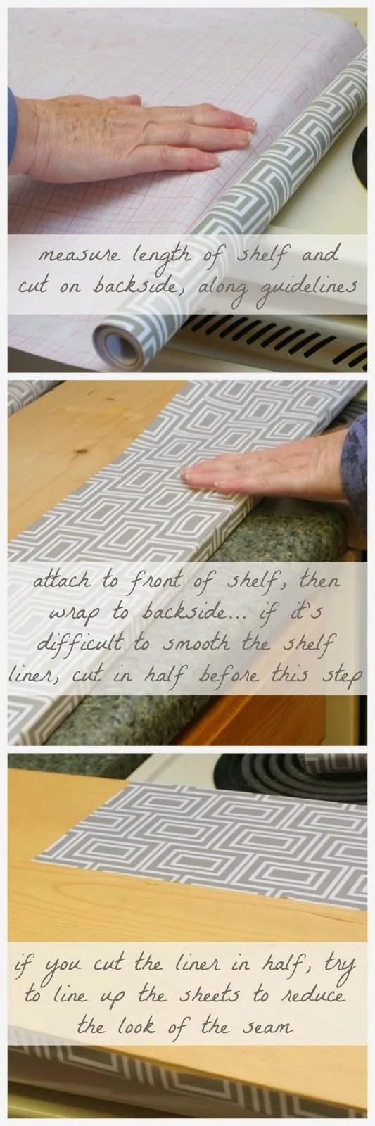 tips for applying shelf liner, Craftivity Designs on Remodelaholic