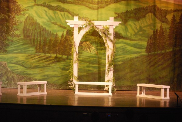 DIY Garden Arbor For Set Of School Play Using @Remodelaholic Tutorial