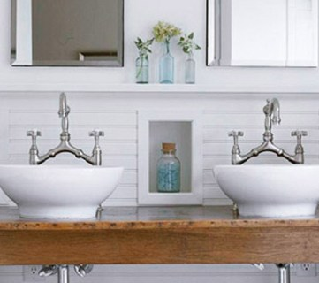 Get This Look: Contemporary Rustic White Bathroom