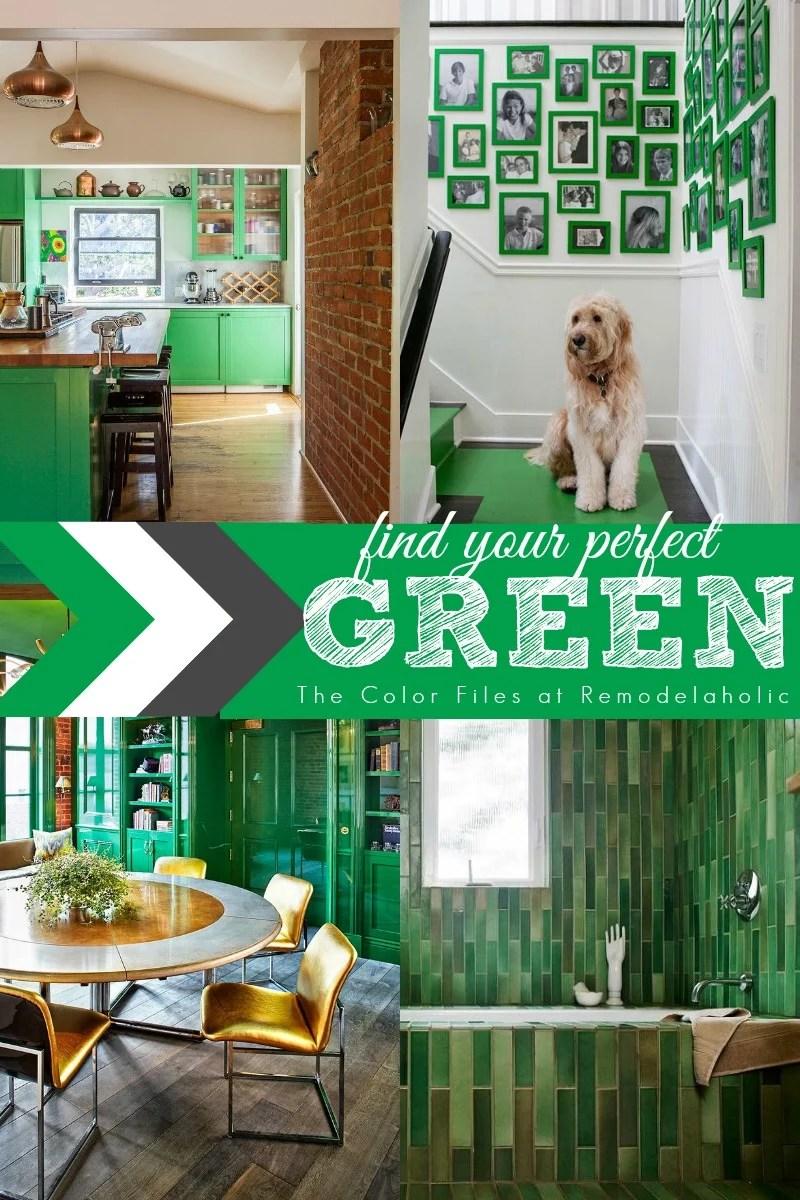 Remodelaholic   Summer Porch Inspiration: Green Front Doors