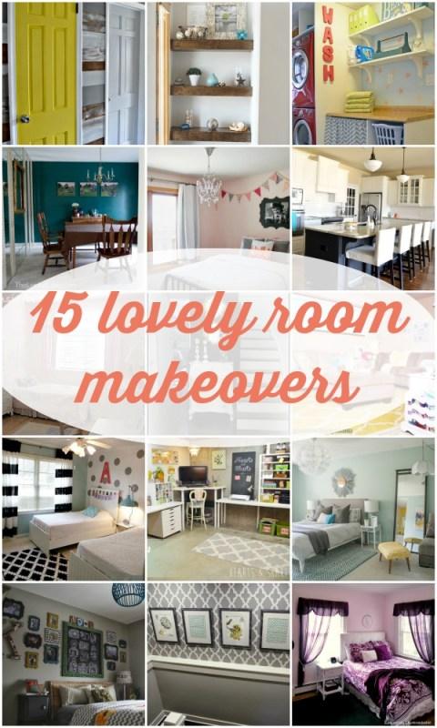 15 Lovely Room Makeovers via Remodelaholic.com