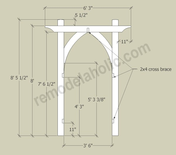 Wedding Arch Diy Ideas: Vegetable Garden Arbor DIY Plans