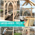 Arched Vegetable Garden Arbor Diy Woodworking Plans #remodelaholic