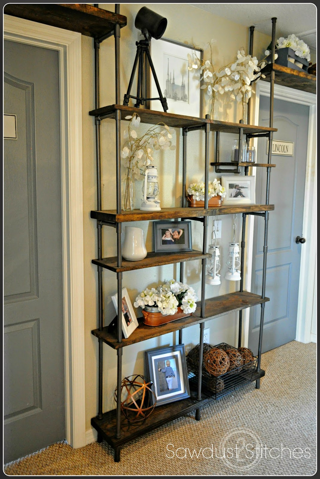 Remodelaholic | Build a Budget-Friendly Industrial Shelf Using PVC Pipe