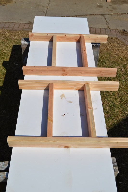build patio table ice box frames, Kruse's Workshop on Remodelaholic