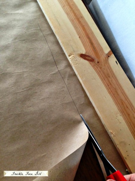 creating faux wood planks for floor 2, Freckle Face Girl for Remodelaholic