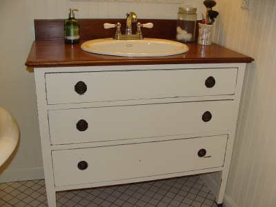 dresser to bathroom vanity