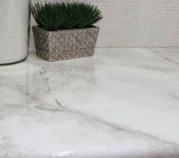 $30 DIY Faux Marble Countertops