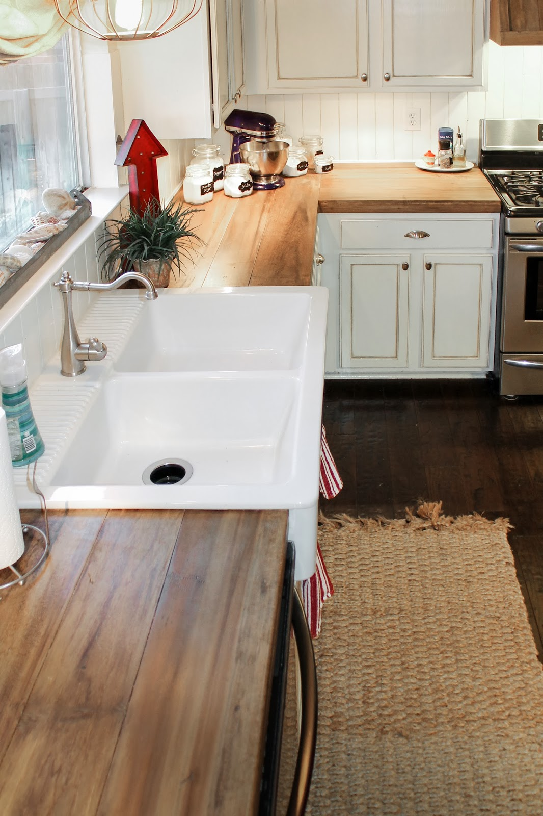 wood kitchen counters knives set remodelaholic how to create faux reclaimed countertops the ragged wren on com