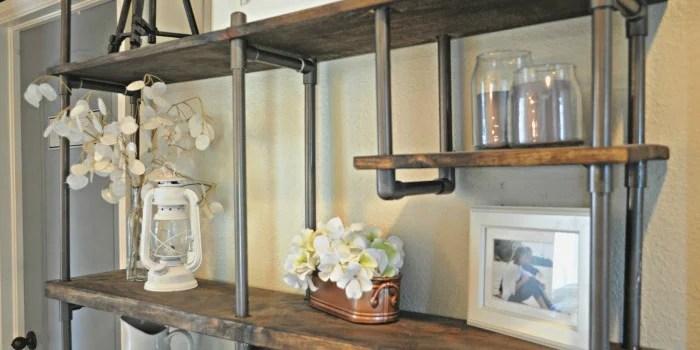 Remodelaholic  Build a BudgetFriendly Industrial Shelf