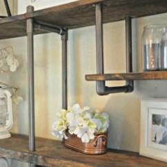 Wall Mounted Chair Rack Hammock Frame Diy Remodelaholic | Build A Budget-friendly Industrial Shelf Using Pvc Pipe