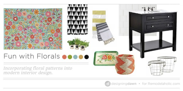 Fun with Floral Patterns on Remodelaholic.com