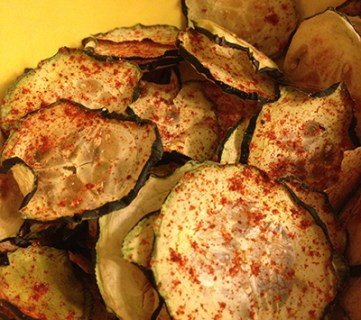 Barbecue Cucumber Chips