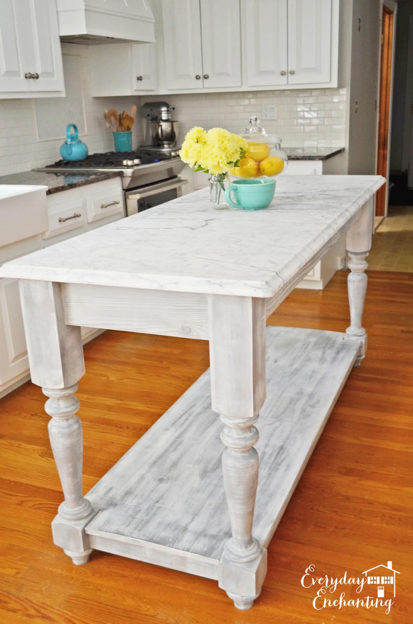 inexpensive kitchen backsplash utility table remodelaholic | white overhaul with diy marble island