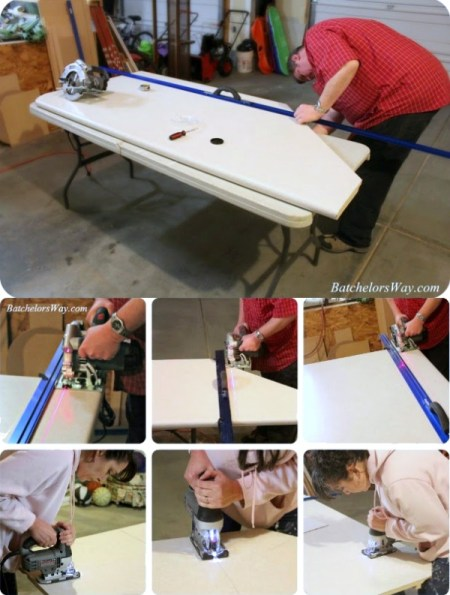 how to cut a countertop to custom size, Batchelors Way on Remodelaholic