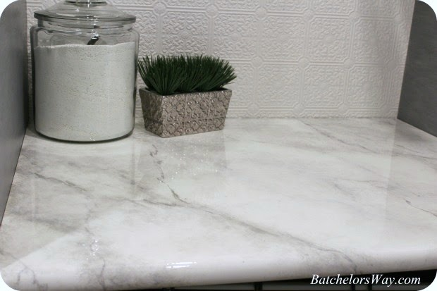 how to paint a faux marble countertop batchelors way on remodelaholic yellow office worktop furniture corian21 corian