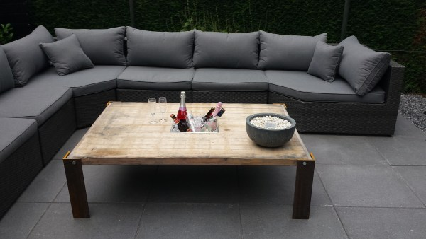 Patio Table With Built In Ice Boxes By Marielle, @Remodelaholic